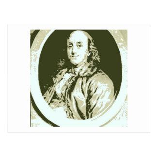 Benjamin Franklin Postkarte
