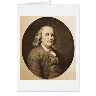 Benjamin Franklin - Vintages magische Laternen-Dia Karte