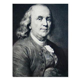 Benjamin Franklin - Vintages magische Laternen-Dia Postkarte