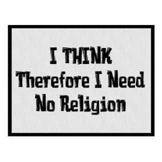 Benötigen Sie nicht Religion Postkarte