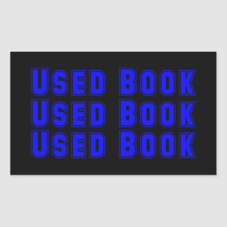 Benutzter Buch-Aufkleber Rechteckiger Aufkleber