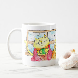Bequeme Katzen in Winter TASSE durch Nicole Janes