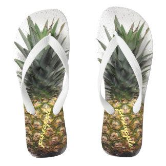 Bequeme personalisierte Ananas drehen Reinfälle um Flip Flops