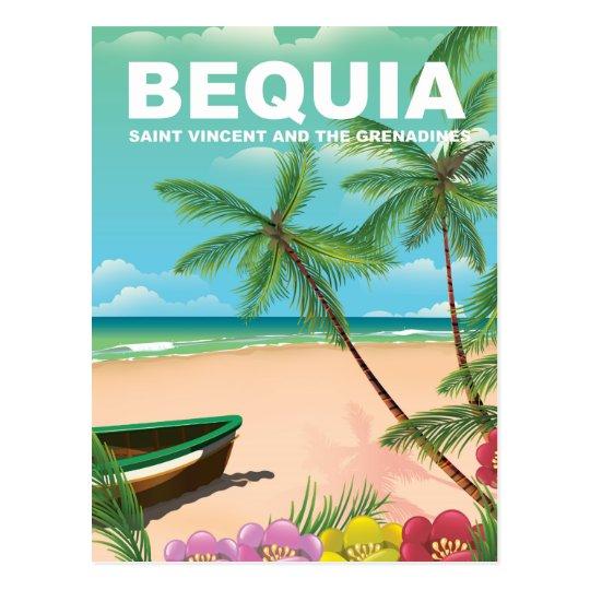 Bequia-Insel in St. Vincent und die Grenadinen Postkarte