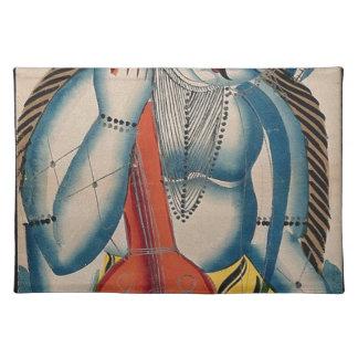 Berauschtes Shiva, das Lamm hält Stofftischset