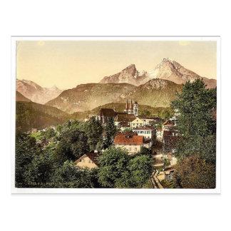 Berchtesgaden mit Waltzmann, oberes Bayern, Germa Postkarte