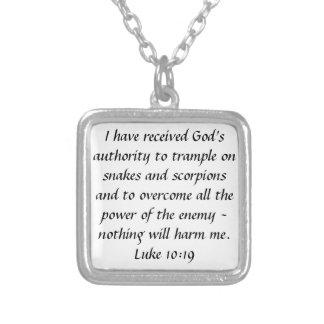 Berechtigungsbibel-Vers Luke-10:19halskette des Versilberte Kette