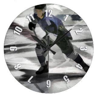 Bereiten Sie für den Kobold-Eis-Hockey-Spieler vor Große Wanduhr