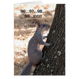 Bereiten Sie vor, oder nicht Eichhörnchen danken Karte