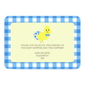 Bereiten Sie vor, um Chicky Jungen-Babyparty 8,9 X 12,7 Cm Einladungskarte