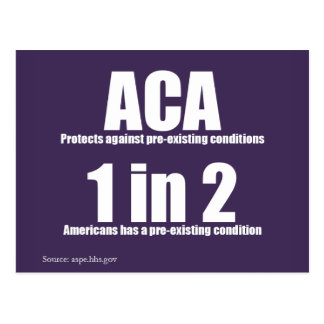 Bereits bestehende Zustands-Postkarte ACA Postkarte