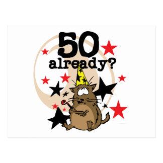 Bereits Geburtstag 50 Postkarte