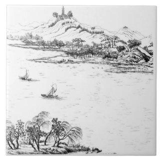 Berg Chang und See Chou, von 'Jardins Anglo-Chi Keramikfliese