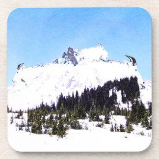 Berg der Ziegen Getränkeuntersetzer