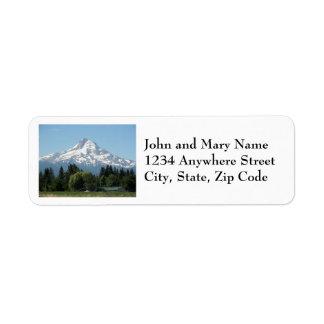 Berg-Hauben-Foto-Rücksendeadressen-Aufkleber Rücksendeetikett