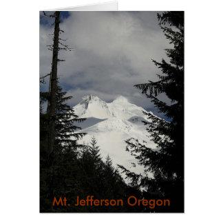 Berg Jefferson Oregon Karte
