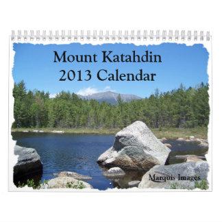 Berg Katahdin 2013 Kalender