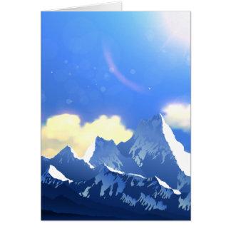Berg majestätisch karte