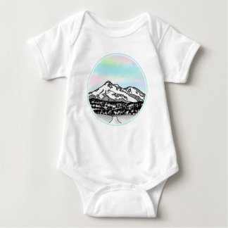 Berg Shasta Landschaftsillustration Baby Strampler