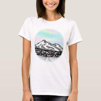 Berg Shasta Landschaftsillustration T-Shirt