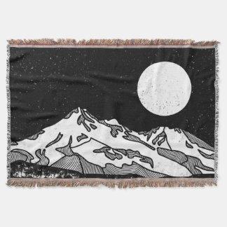 Berg Shasta Schwarzweiss Decke