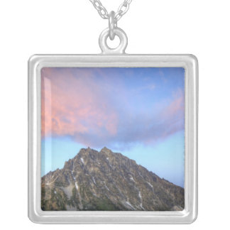 Berg Stuart, am Sonnenuntergang Versilberte Kette