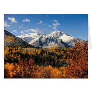 Berg Timpanogos in Herbst-Utah-Bergen Karte