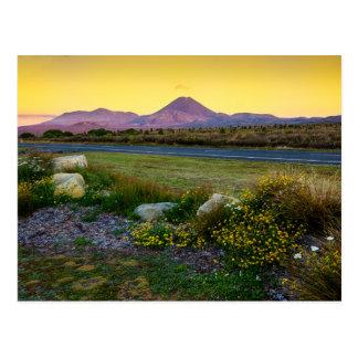 Berg Tongariro, Neuseeland Postkarte