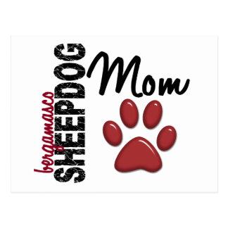 Bergamasco Schäferhund-Mamma 2 Postkarte