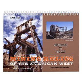 Bergbau-Relikte des amerikanischen Westens Kalender
