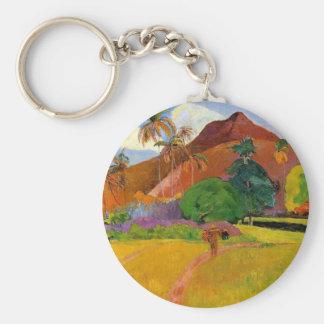 """Berge in Tahiti"" - Paul Gauguin Keychain Schlüsselanhänger"
