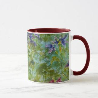 """Bergsteiger-"" Garten-Blumenkunst-Aquarell Tasse"