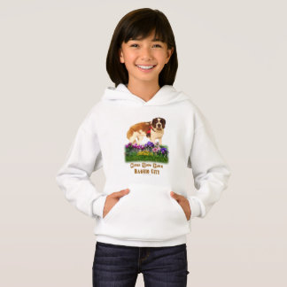 Bergwerk-Ansicht-Park, Blumen und cooler Hund Hoodie