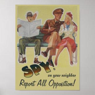 Berichten Sie über aller Opposition politische Sat Plakate