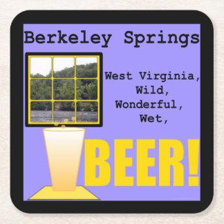 Berkeley Springs, WV Bier-Untersetzer Kartonuntersetzer Quadrat