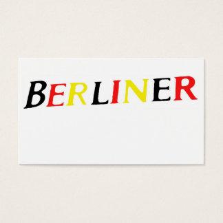 Berlin, Bewohner von Berlin, Deutschland in den Visitenkarte
