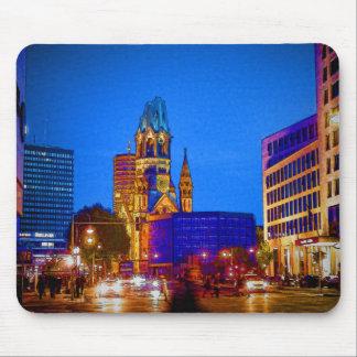 Berlin-Nachtleben - Kaiser Wilhelm Denkmal-Kirche Mousepads