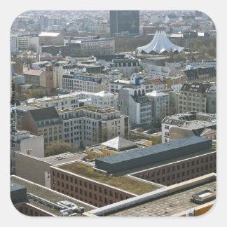 Berlin Quadratischer Aufkleber