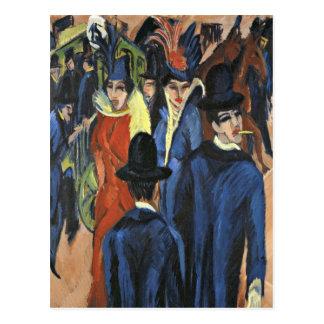 Berlin-Straßen-Szene - Ernst Ludwig Kirchner Postkarte