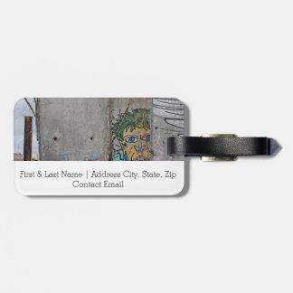 Berliner Mauer Graffitikunst Kofferanhänger