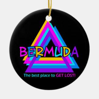 BERMUDA-DREIECK-Verzierung - fertigen Sie Rundes Keramik Ornament