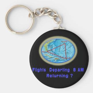 Bermuda-Dreieckentwürfe Schlüsselanhänger