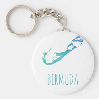 Bermuda-Karte Schlüsselanhänger
