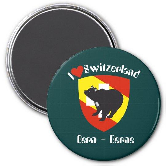 Bern Berne Berna Schweiz Suisse Svizzera Svizra Runder Magnet 7,6 Cm