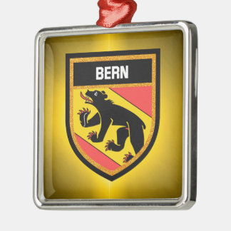 Bern-Flagge Silbernes Ornament