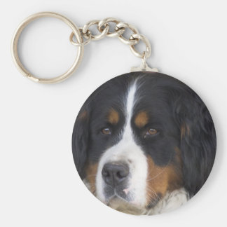Berner Sennenhund Keychain Standard Runder Schlüsselanhänger