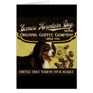 Bernese Gebirgshundemarke - Bio Kaffee Compan Grußkarte
