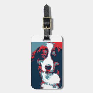 Bernese Gebirgshundepolitisches Parodie-Plakat Kofferanhänger