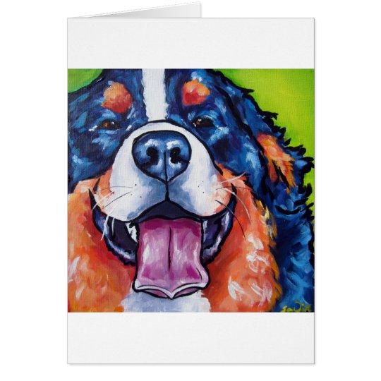 Bernese Mt Hund Grußkarte