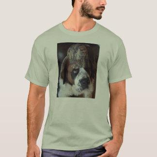Bernhardiner-Camouflage-Kappen-T-Stück T-Shirt